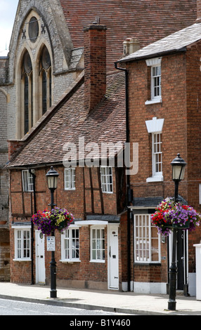Stratford Upon Avon Warwickshire England town centre homes and housing - Stock Photo