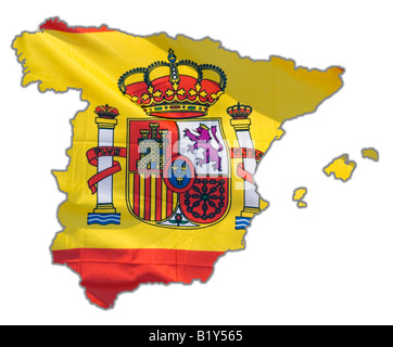 Map Outline of Spain - Stock Photo