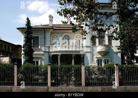 Residential villa. La Crocetta district, Turin. Italy - Stock Photo