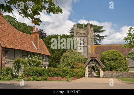Hambleden Buckinghamshire UK view - Stock Photo