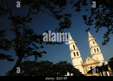 The cathedral of Campeche Yucatan, Mexico - Stock Photo