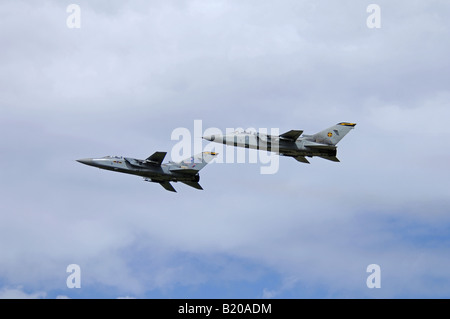 Panavia Tornados F3 on take off with full afterburners from RAF Kinloss - Stock Photo