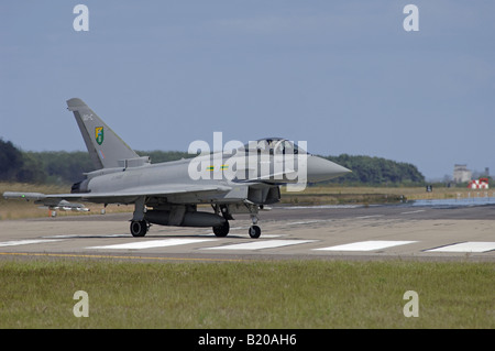 UK - Air Force Eurofighter EF-2000 Typhoon F2 ZJ922/QO-C 3 Squadron RAF Coningsby England - Stock Photo