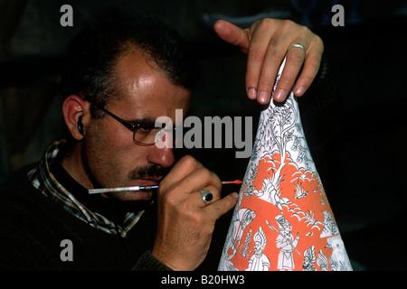 turkey, cappadocia, avanos, pottery painting - Stock Photo