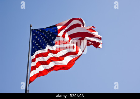 American Flag in the wind - Stock Photo