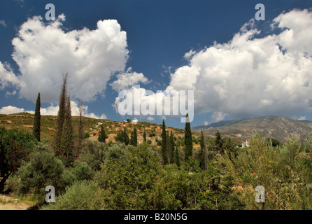 Landscape near Myli. Samos island, Greece - Stock Photo