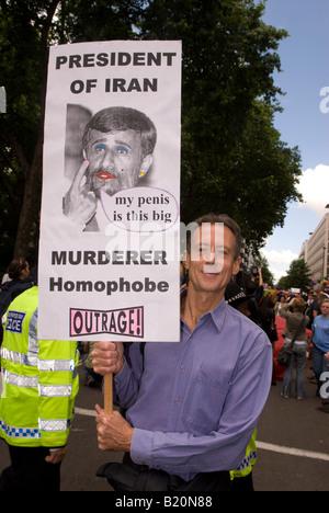 England, London, The Annual Gay Pride Parade, Participants ...