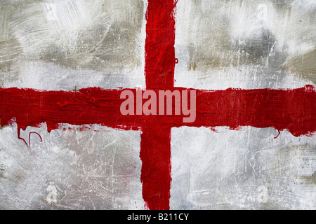 Abstract painting of St Georges flag (English flag) - Stock Photo