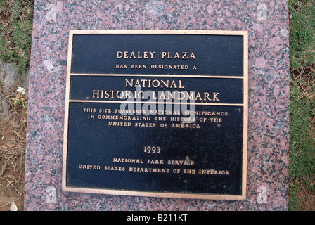 Dealey Plaza where President John F Kennedy was murdered in 1963 - Stock Photo