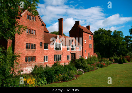 Harvington Hall a Medieval and Elizabethan Moated Manor House near Kidderminster, Worcestershire - Stock Photo