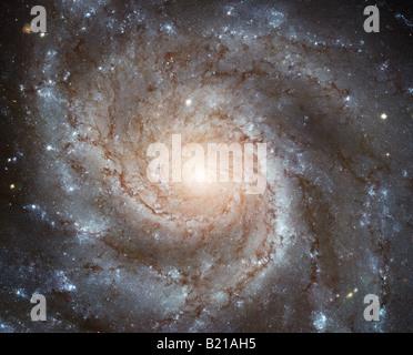 NASA Hubble photo of spiral galaxy - Stock Photo