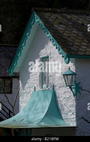Portmeirion in North Wales, where 'The Prisoner' television series was filmed in the late 1960s. - Stock Photo