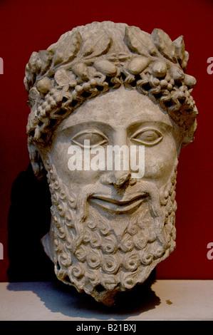 Bearded whorshipper Cyprus 475 450 BC Apollo Idalion Greek Greece - Stock Photo