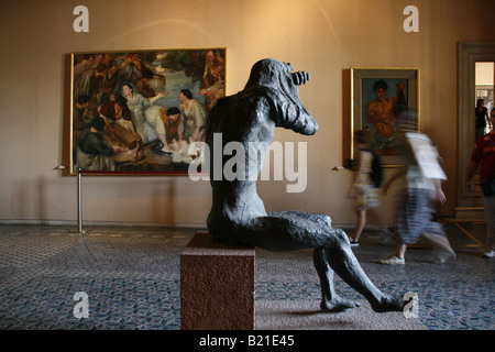 modern art exhibit at vatican museum rome italy - Stock Photo