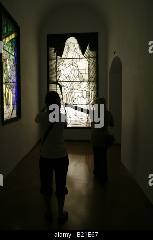 exhibit at modern art at vatican museum rome italy - Stock Photo