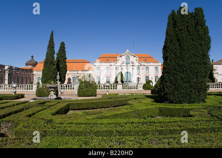 Delightful Neptune Gardens (baroque) And One Of The Facades Of The Queluz Royal Palace  (