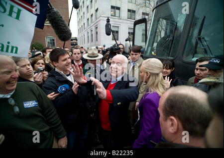 Presidential Candidate Senator John McCain at a campaign event at the State House in Concord NH January 7 2008 - Stock Photo