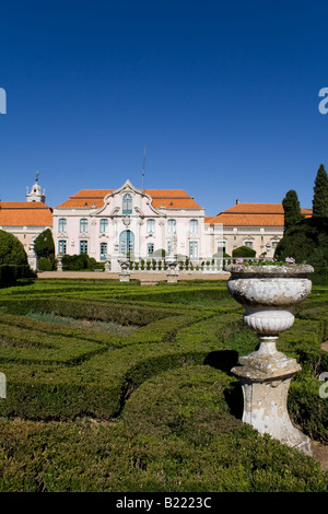 Superbe Neptune Gardens (baroque) And One Of The Facades Of The Queluz Royal Palace  (