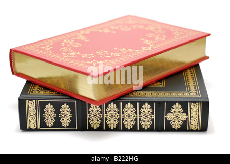 Leather Bound Books with no Titles - Stock Photo