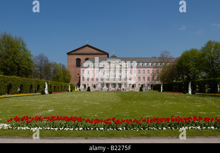 palace garden of the the Electoral Palace, Palace of the prince elector, Kurfuerstliches Palais, Baroque PALACE, - Stock Photo
