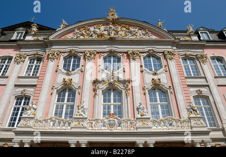 the Electoral Palace, Palace of the prince elector, Kurfuerstliches Palais, Baroque PALACE, Trier, Germany, Europe - Stock Photo