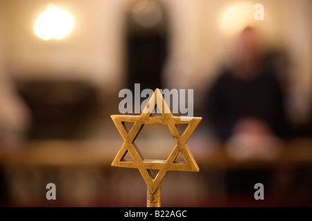 Star of David in a Synagogue. - Stock Photo