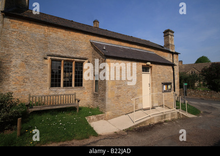 Village Hall at Upper Slaughter, Cotswolds, Gloucestershire, England - Stock Photo
