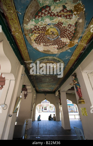 artwork - painting on the ceiling of a hindu temple - Stock Photo