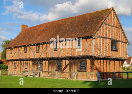 15th Century Elstow Moot Hall, Village Green, Elstow, Bedfordshire, England, United Kingdom - Stock Photo