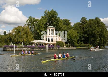 England Oxfordshire Henley royal regatta - Stock Photo