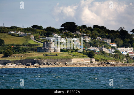 st mawes castle from the sea cornwall - Stock Photo