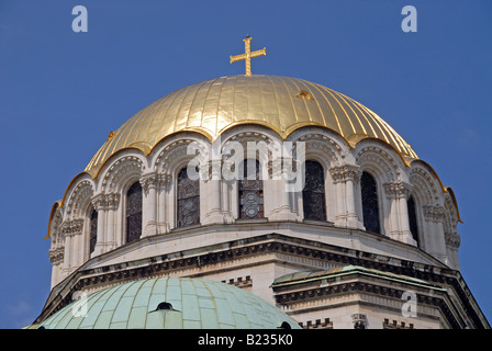 The Alexander Nevski cathedral in the centre of Sofia, Bulgaria. - Stock Photo
