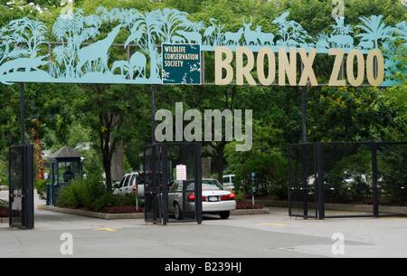 Entrance to the Bronx Zoo - Stock Photo