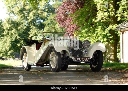 SS100 Jaguar Roadster 1940 - Stock Photo
