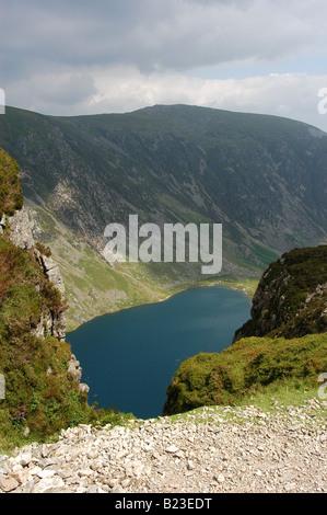 View into Llyn Cau on Cadair Idris - Stock Photo