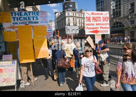 sandwich boards in london - Stock Photo