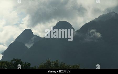 The slopes of Gunung Mulu Gunung Mulu National Park Sarawak Malaysia - Stock Photo