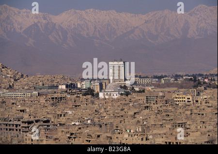 An overview of Kabul Afghanistan - Stock Photo