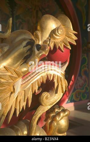 A dragon s head at Tua Pek Kong Temple Miri Sarawak Malaysia - Stock Photo