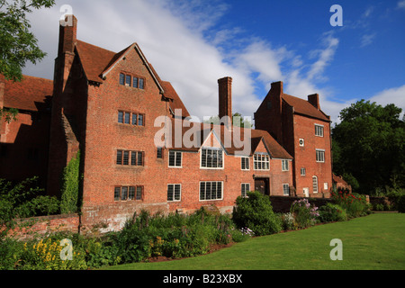 Harvington Hall, Worcestershire located between Kidderminster and Chaddesley Corbett - Stock Photo