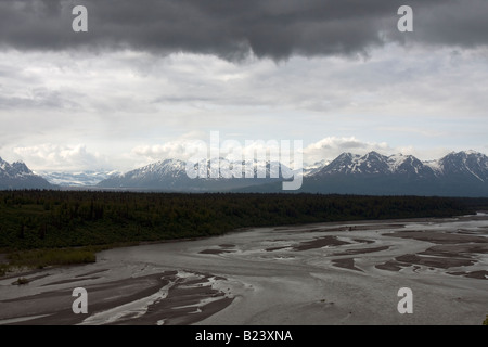 Mudflats in Cooks Inlet, Turnagain arm, Alaska - Stock Photo