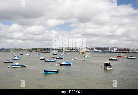 on the River Tamar at Torpoint Cornwall UK - Stock Photo