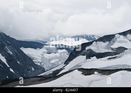 Mountains and glaciers of Jotunheimen national park near Spiterstulen, Norway - Stock Photo