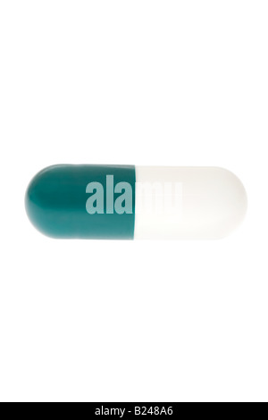 Green and white capsule - Stock Photo