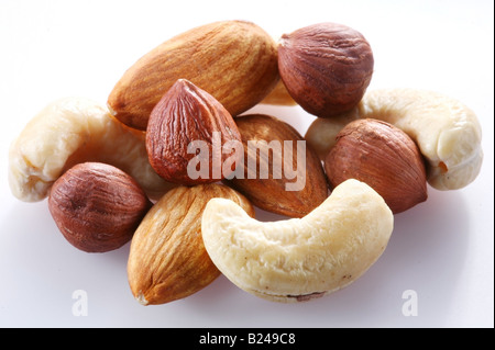 Nuts Objects on white background - Stock Photo