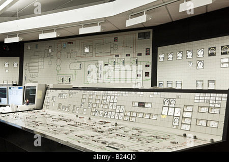 Control panel in power plant - Stock Photo