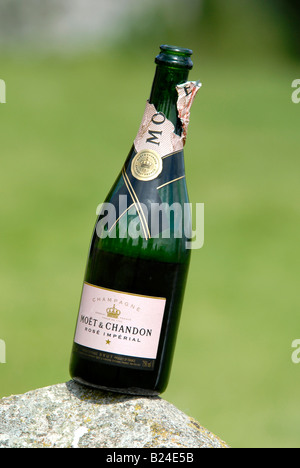 An open bottle of moet chandon stock photo royalty free for How many mimosas per bottle of champagne