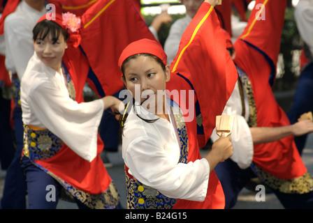 Yosakoi Matsuri (dance festival), Omotesando, Tokyo, Japan - Stock Photo