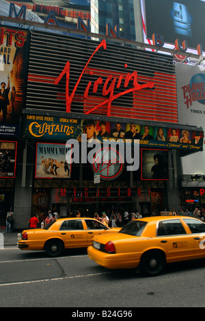 The Virgin Megastore in Times Square in New York - Stock Photo