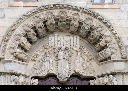 Portal of Colegio de San Xerome (17th century), Santiago de Compostela, Galicia, Spain